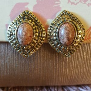 True VTG 80s Bold Western Geometric Earrings